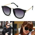 Frauen Männer Schwarz UV400 Metallrahmen Mode Sonnenbrillen Goggle Motorrad