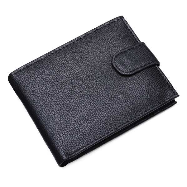 Business Men Leather Brief Wallet Credit Card Holder Men's Bags