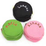 Candy-colored Round Canvas Wallets Coin Change Purses Men's Bags