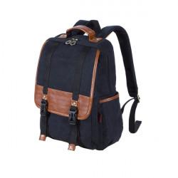 Mode Retro Canvas Rygsæk Water Wash Dobbelt Shoulder Causal Mænd Bag