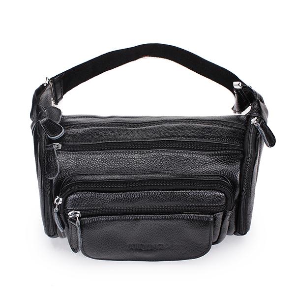 Echtes Leder Rindleder Männer Taille Sporttasche Außen Travel Belt Wallet Herrentaschen