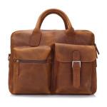 Echtes Leder Handtaschen Schulter Freizeit Herrentasche Geschäfts Aktenkoffer Herrentaschen