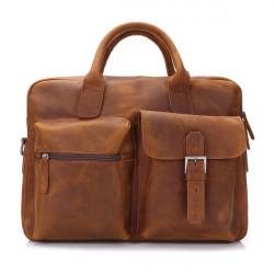 Ægte Læder Håndtaske Shoulder Fritid Mænds Bag Forretning Rejsetaske