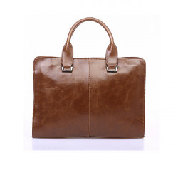 Leather Men Handbag Men's Briefcase Laptop Business Leisure Shoulder Bag