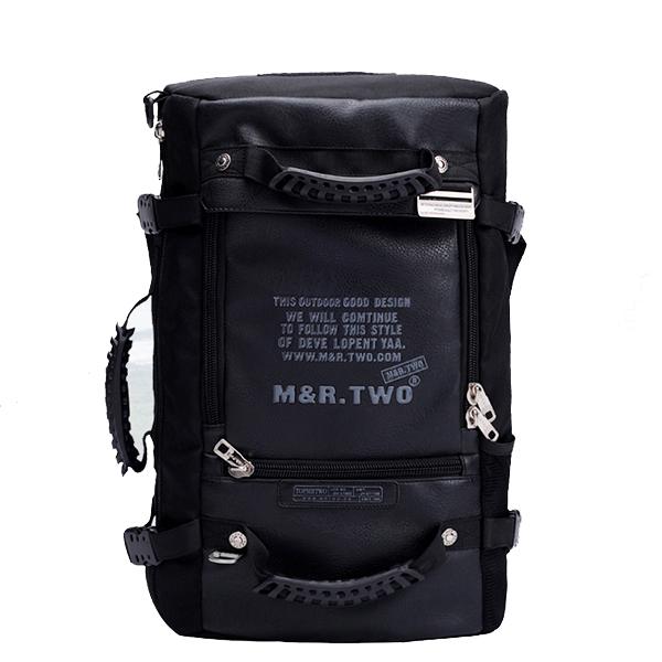 MRTWO Men Large Capacity Camping Multipurpose 16 Inch PU Nylon Oxford Backpacks Men's Bags