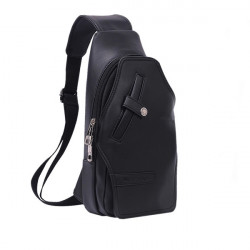 MRTWO Men PU leather Vintage Casual Chest Single-shoulder Crossbody Bags