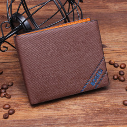 Man Pengar Väskor Mjuk ID-kort Case Classic Solid Mönster Plånbok