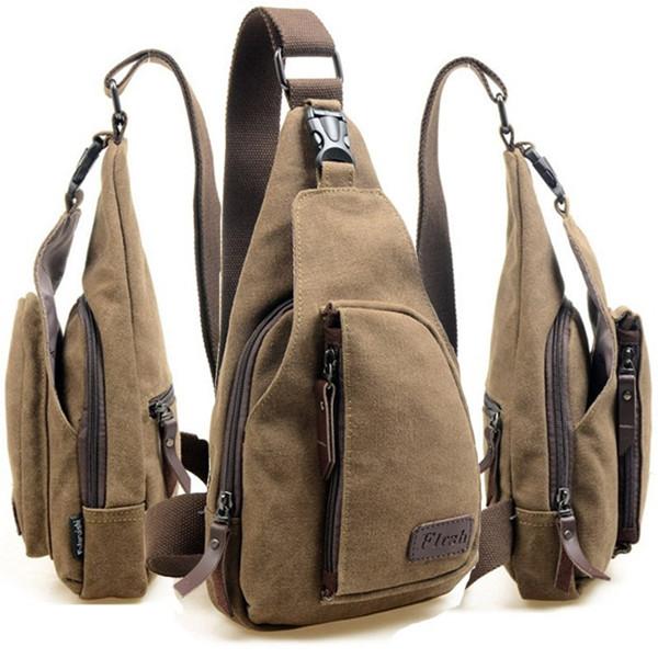 Mann Segeltuch Rucksack Schulter Kasten Wandern Bag Herrentaschen