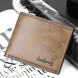 Men Leather Short Wallet Bifold Money Clip Credit Card Holder
