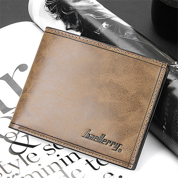 Männer lederne kurze Geldbörse Bifold Geldklammer Kreditkarteninhaber Herrentaschen