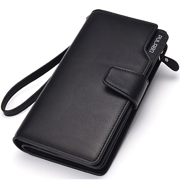 Männer Lange Brieftasche Reißverschluss Kreditkarten Handy Halter Herrentaschen