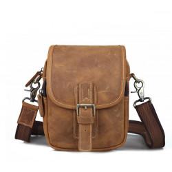 Men Messenger Bag echtes Leder Crossbody Beutel beiläufige Schultertasche