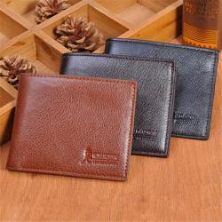 Männer Geldbörsen Ledergeldklammern Bifold Kartenhalter Geldbeutel