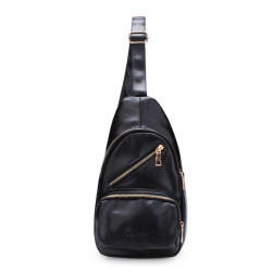 Men Women Casual Soft Artificial Leather Bag Chest Pack Crossbody Bags