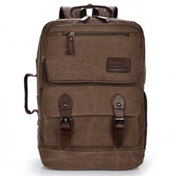 Män Kvinnor Multifunktions Vintage Canvas Backpack Stor Kapacitet