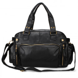 Herren Schwarz Braun Business Messenger Handtasche Crossbody Tasche
