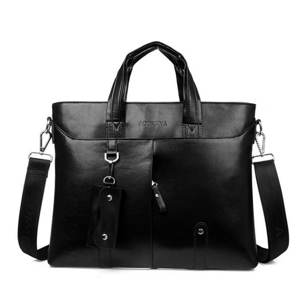 Herren Aktentasche Business Schulter Beutel PU Leder Handtasche Herrentaschen