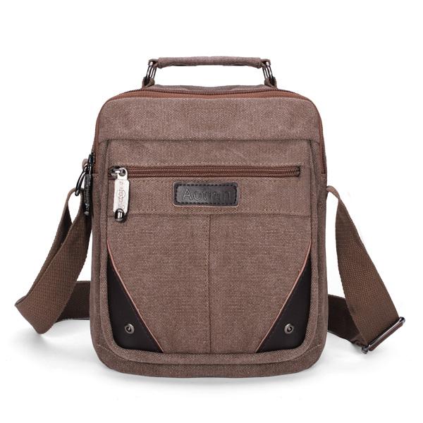 Segeltuch kleine Reise Umhängetasche Umhängetasche Messenger Bags Herrentaschen