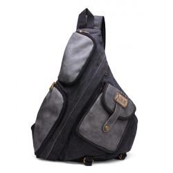 Herren: Freizeit Segeltuch Schulter Beutel große Kapazitäts Beutel Rucksack
