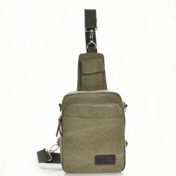 Mens Casual Multifunctional Canvas Chest Bag Crossbody Bag