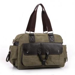 Män Casual Retro Tote Bag Stor Kapacitet Axelremsväska Handväska