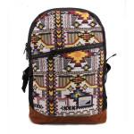 Mens beiläufige Art und Weise Weinlese Segeltuch Muster Rucksack Herrentaschen