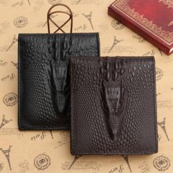 Män Äkta Läder Bifold Plånbok ID Kreditkortshållare