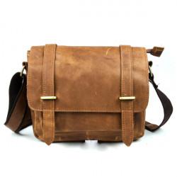 Mens echtes Leder Crossbody Handtasche Schulter Messenger Bag