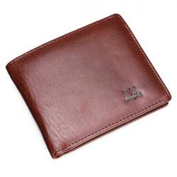 för Män Läderaffärs Plånbok Pocket Card Koppling Bifold Slim Purse