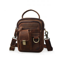 Men's Messenger Bag Retro Shoulder Bag Genuine Leather Men's Crossbody Bags