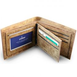 Herren PU Leder Kurz Plaid Soft Surface Matte Wallet
