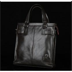 Mens Portable Shoulder Diagonal Backage Business Leather Bag