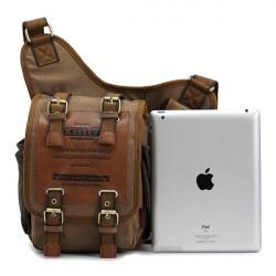 Men's Retro Canvas Travel Shoulder Bags Messenger Bag