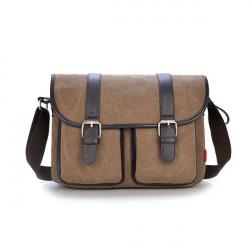 Herren Jahrgang Canvas Messenger Bag Military Travel Umhängetasche