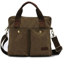 Men's Vintage Canvas Military Shoulder Bag Messenger Crossbody Bag