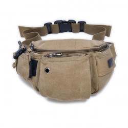 Mens Womens Multifuntion Casual Canvas Waist Bag Crossbody Bag