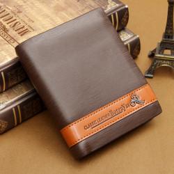 PU Leather Men's  Convenient Classic Wallet Credit Business Card Cash Purse