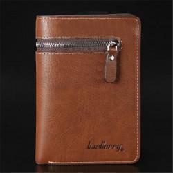 Short Men Wallet Leather Zipper Wallets Man Money Clip Clutches Purse