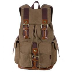 Weinlese beiläufigen Leinwand Bergsteigen Rucksack Außenreisetasche
