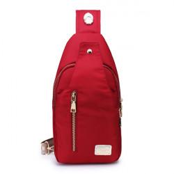 Kvinnor Män Sport Zipper Chest Bag Nylon Cross Väskor