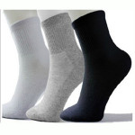 10 Pairs Mens Solid Color Breathable Cotton Sport Socks
