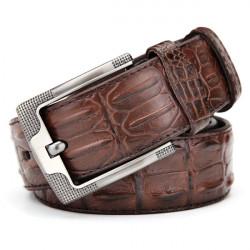 120CM Mens Belt  PU Alligator Crocodile Pattern Alloy Pin Buckle Jeans Strip