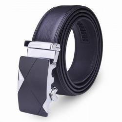 120CM Mensgurt Peritoneal Zweite Schicht Business Leather Automatic Legierung Schnalle Streifen