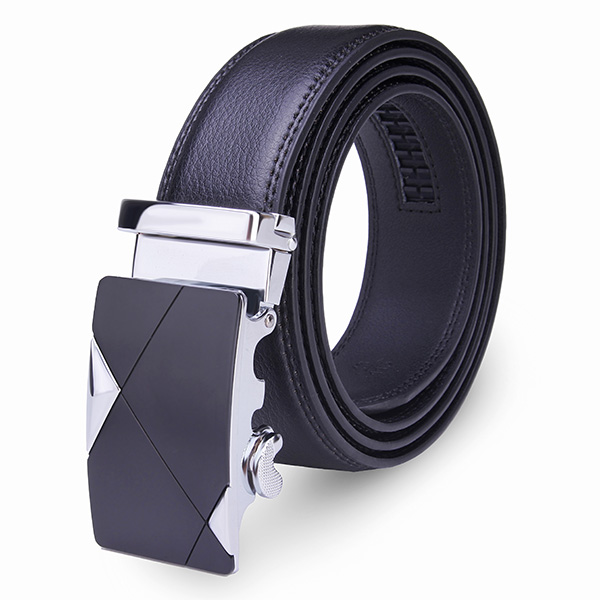 120CM Mens Belt Peritoneal Second Layer Leather  Business Automatic Alloy Buckle Strip Men's Clothing