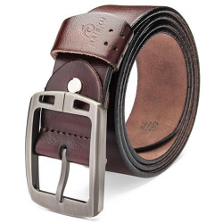 125CM The New Sports Car Buckle Men Genuine Leisure Pin Buckle Belts