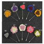 1X Mænds Lapel Flower Rose Blandet Color Handmade Boutonniere Stick Broche Pin Herretøj