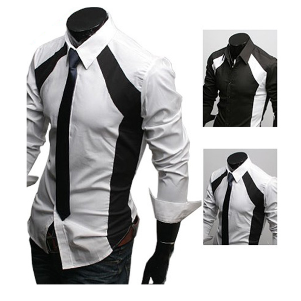 2013 Fall Men's Casual Slim Fit Stylish Dress Long Sleeve Shirts Men's Clothing