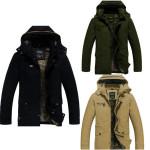 2014 Männer Baumwolle Wollfutter Winter Slim Fit verdicken Graben Jacken Herrenbekleidung