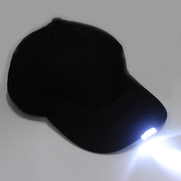 5 LED beleuchtete Baseball mit Batterien Double Vision Caps Herrenbekleidung