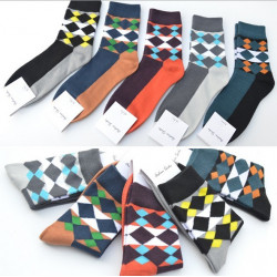 A.E.SHON Herren Rhombus Socken Soft Contrast Socken